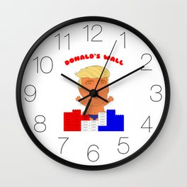 Donald's Wall Wall Clock