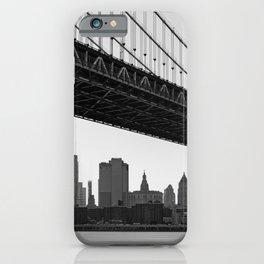 Manhattan Bridge, New York City, Hudson river, New York skyline (2020-6-GNY193) iPhone Case
