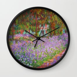 "Claude Monet ""The Artist's Garden at Giverny"" Wall Clock"