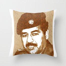 Scrabble Saddam Hussein Throw Pillow