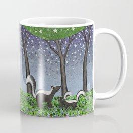 starlit striped skunks Coffee Mug