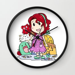 Polly Mason - Girl Candy Cute Cat Wall Clock