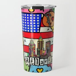 Atlanta New Popart by Nico Bielow Travel Mug