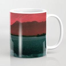 RED SKY OVER LAKE Mug