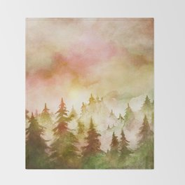 Into The Forest X Throw Blanket