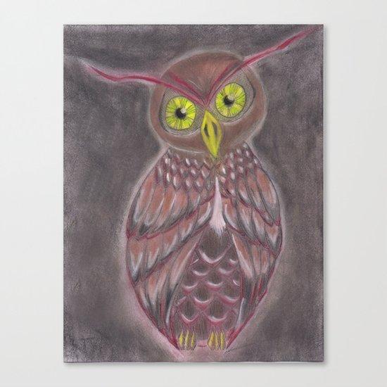 Stylized Owl Canvas Print