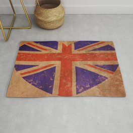 union jake Love heart Rug