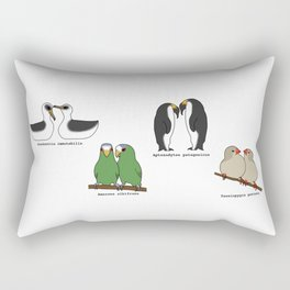 Lesbian Bird Species Rectangular Pillow