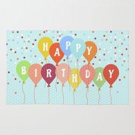 Colorful Birthday card Rug