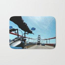 Bikes and Bridges Bath Mat