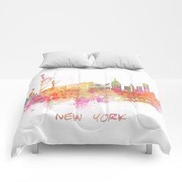 New York skyline Comforters