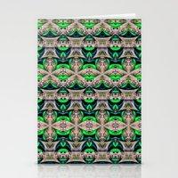 bamboo Stationery Cards featuring Bamboo by Zandonai Pattern Designs
