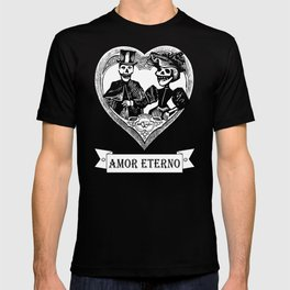 Amor Eterno   Eternal Love   Red and Black T-shirt