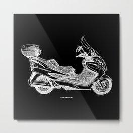Suzuki Burgman 400, Scooter Metal Print