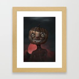 Scary Smile Framed Art Print