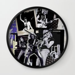 Pretenders collage Wall Clock