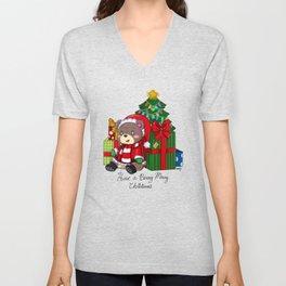 Beary Christmas Unisex V-Neck