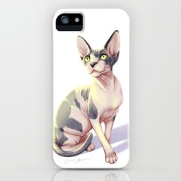 Sphynx Cat Painting -- Kirby iPhone Case
