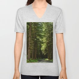 On A Road To The Rainforest Unisex V-Neck