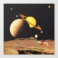 western Canvas Prints featuring Western Space by Mariano Peccinetti