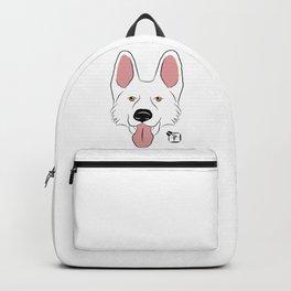 White German Shepherd Face Backpack