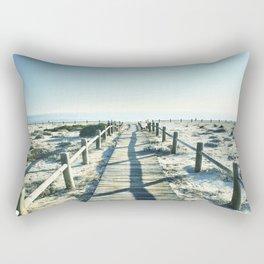 To the sea... Vintage beach Rectangular Pillow