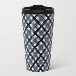 Black and blue tartan Travel Mug