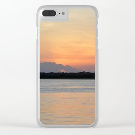 another sunset from Topsail Clear iPhone Case