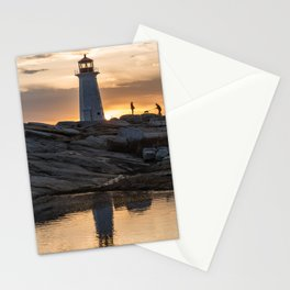 Peggys Point sunset walk Stationery Cards