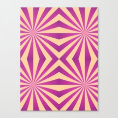 Purple and pale yellow - Geometric game Canvas Print