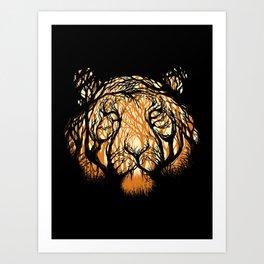 Hidden Hunter Art Print