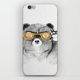 Hipster Bear iPhone Skin
