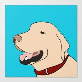 Sage A Yellow Labrador Canvas Print