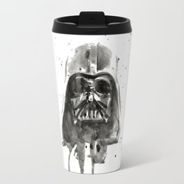 Vader Helmet Watercolor Travel Mug