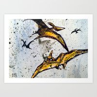 Pterodactyls Art Print