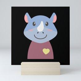 Rhino Mini Art Print