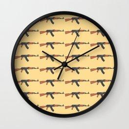 ak47 pattern logo Wall Clock