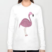 flamingo Long Sleeve T-shirts featuring Flamingo by Frida Strömshed