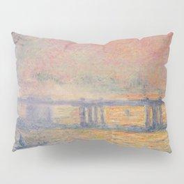 Charing Cross Bridge (Saint Louis), Claude Monet Pillow Sham