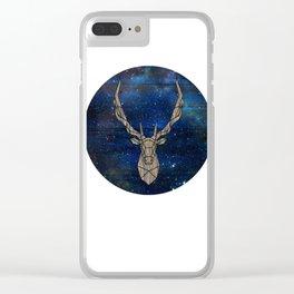 Geometric Space Elk Clear iPhone Case