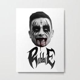 Black Metal Robbie Metal Print