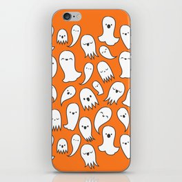 Ghosts on Orange iPhone Skin