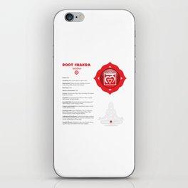 Root Chakra - Muladhara Art & Chart iPhone Skin