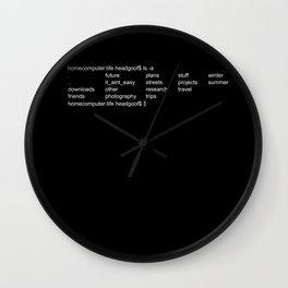 bash screen, mac os terminal, linux screen, directories Wall Clock