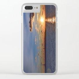 Twin Light Sunrise Clear iPhone Case