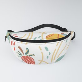 Orange, Pear & Strawberry & Abstract Fanny Pack