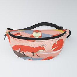 Fox Pattern Fanny Pack
