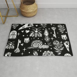 Full Of Secrets Witchy Goth Punk Pattern Rug