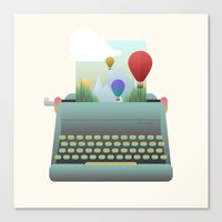 write Canvas Prints featuring Write your story by Moremo