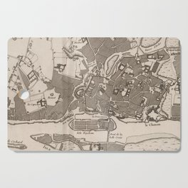 Vintage Map of Nantes France (1764) Cutting Board
